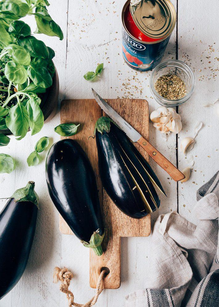 aubergine waaiers