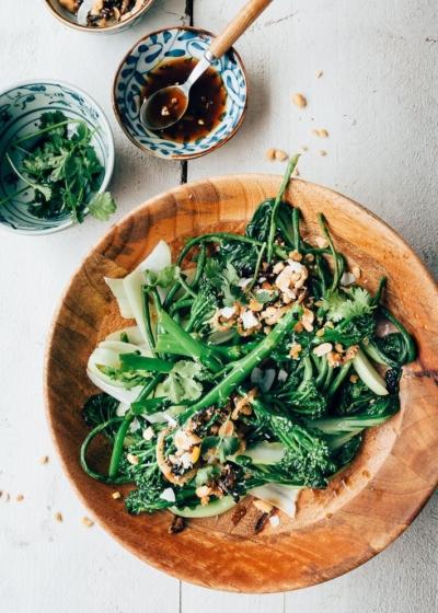 Aziatische groenten met homemade seroendeng