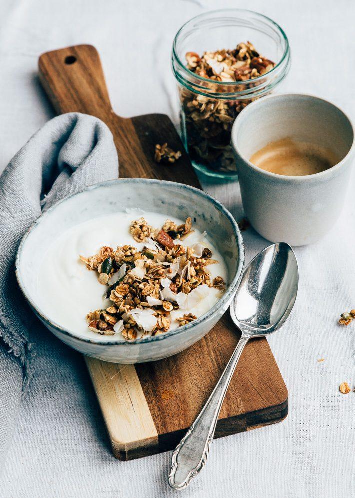 snelle granola uit de pan