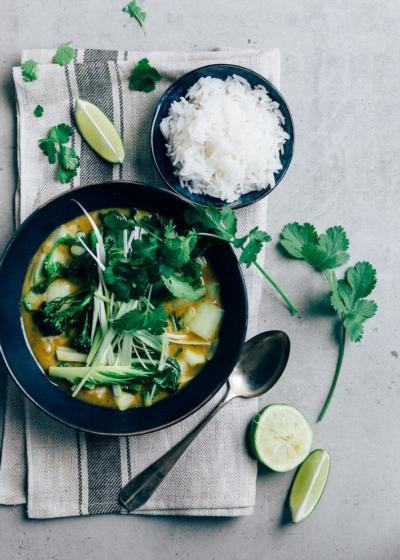 Groene curry met paksoi