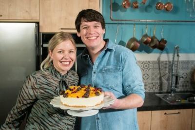 Cheesecake met sinaasappel en paaseitjes