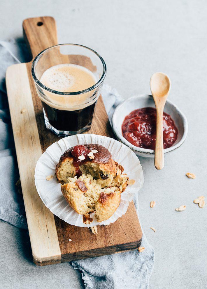 ontbijtmuffins met granola