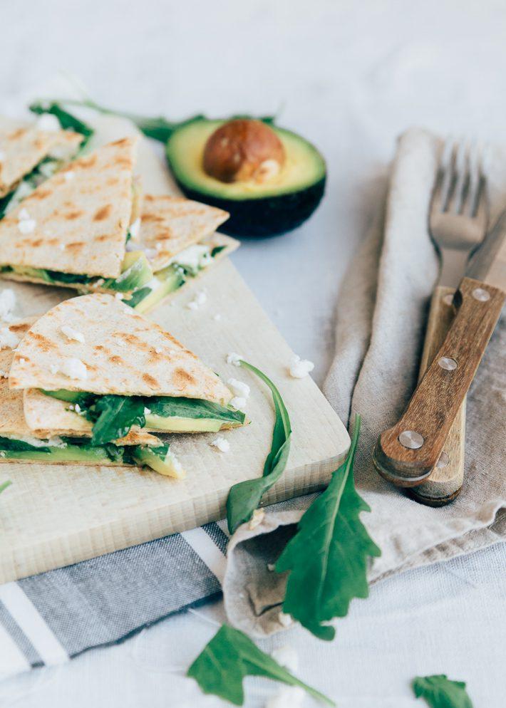 Quesadilla's met avocado