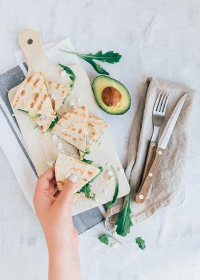 Quesadilla's met avocado en feta