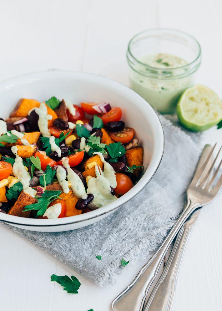 mexicaanse zoete aardappelsalade