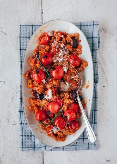 Tomaten quinoa risotto