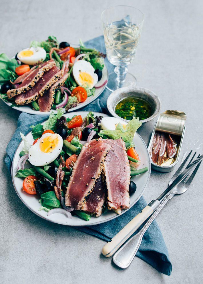 gegrilde tonijn salade