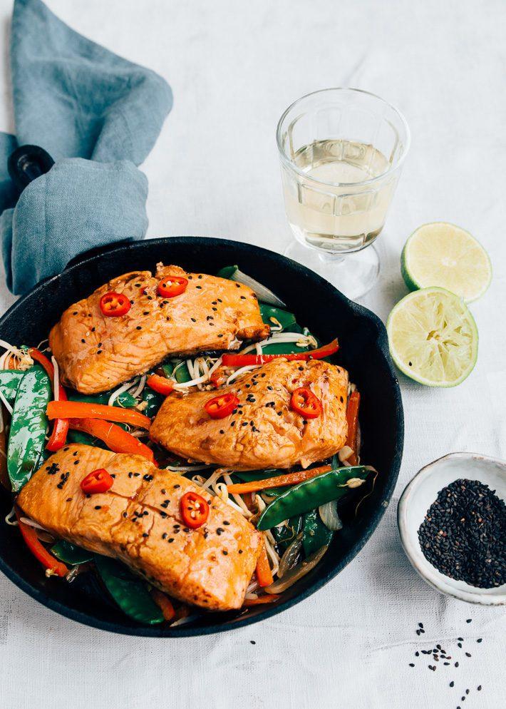 Recept Thaise zalm met chili