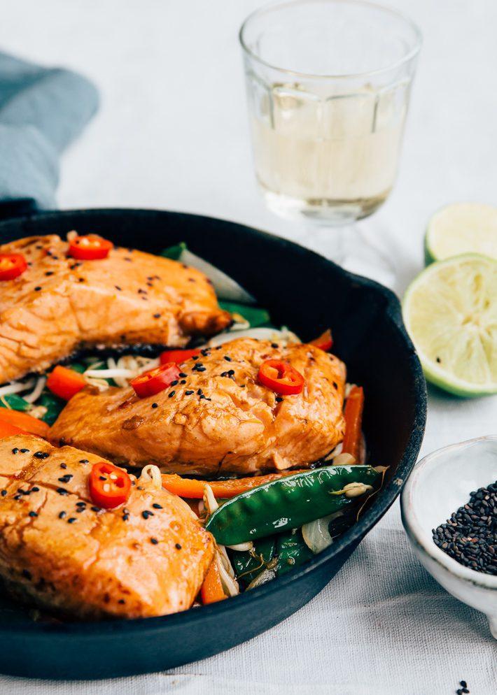 Makkelijk recept met Thaise zalm