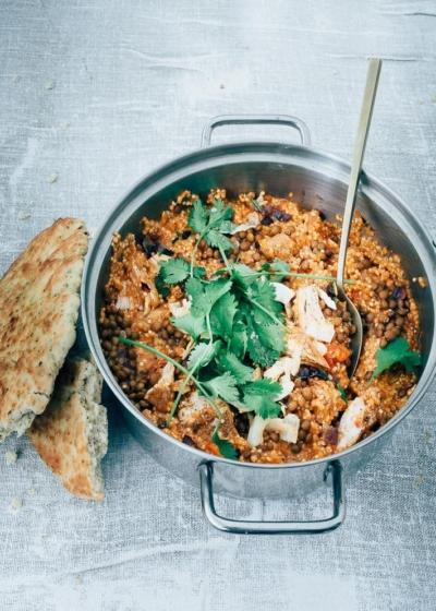 Garam Masala kip met quinoa