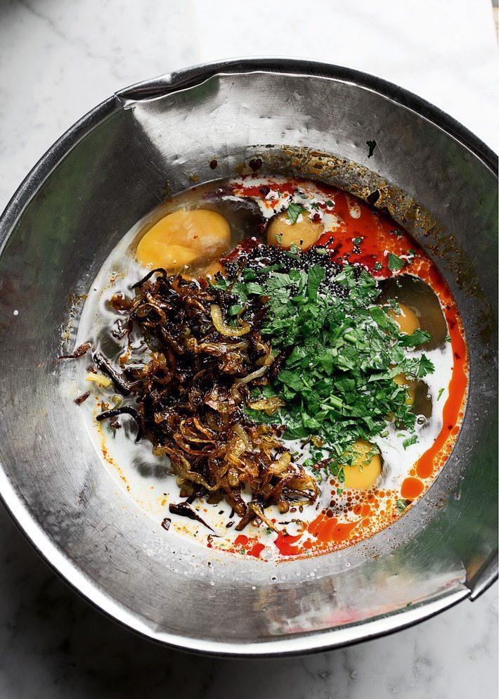 Iraanse kruidenbeignets