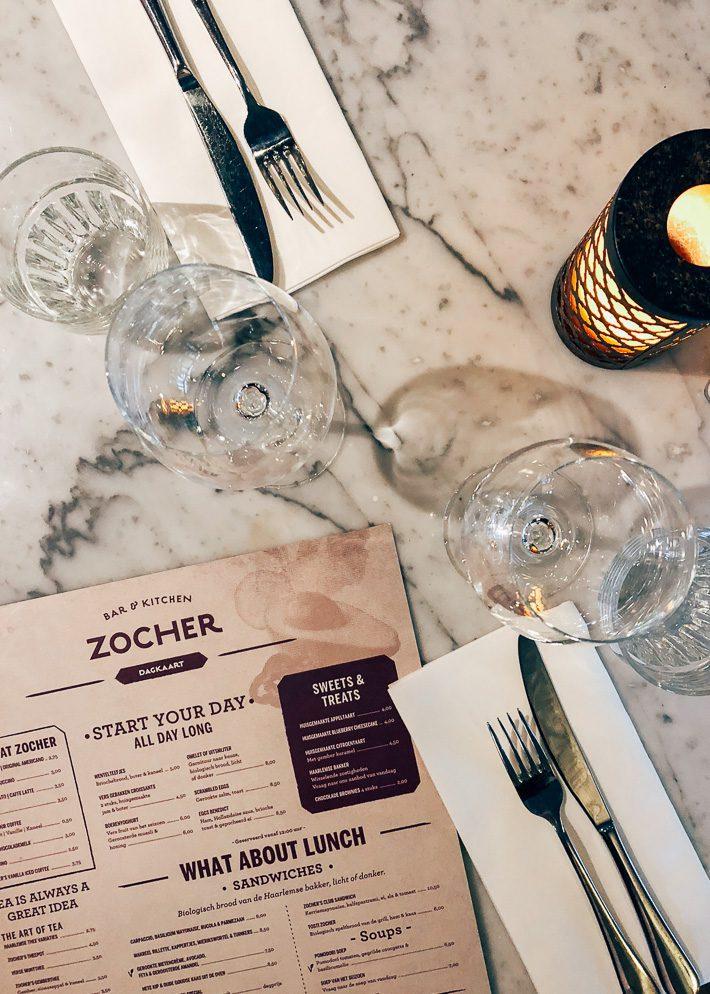 Zocher Haarlem menu