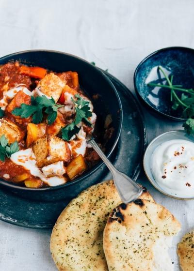 Paneer masala (vegetarische curry)