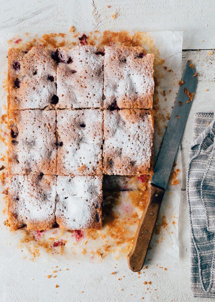 Amandel cake met frambozen