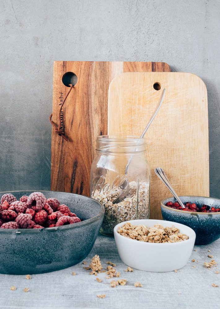 Bietjes en frambozen smoothie bowl