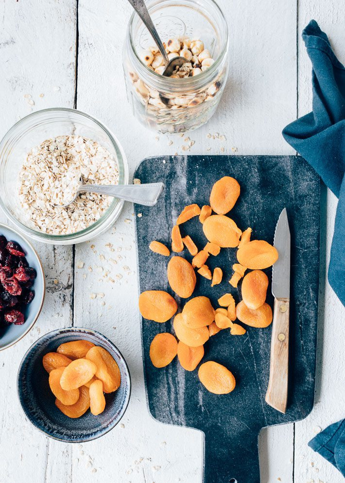 Mueslirepen met gedroogd fruit