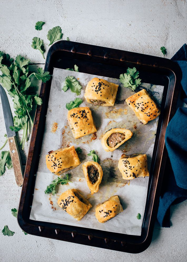 Mini Thaise curry worstenbroodjes