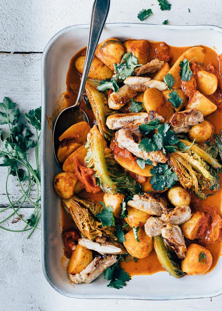 Thaise curry met aardappel