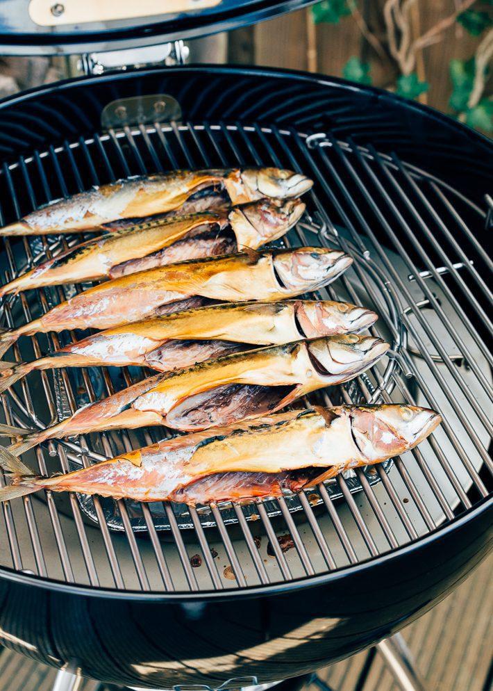 Gerookte makreel op de bbq