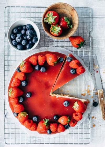 Cheesecake met fruitjelly