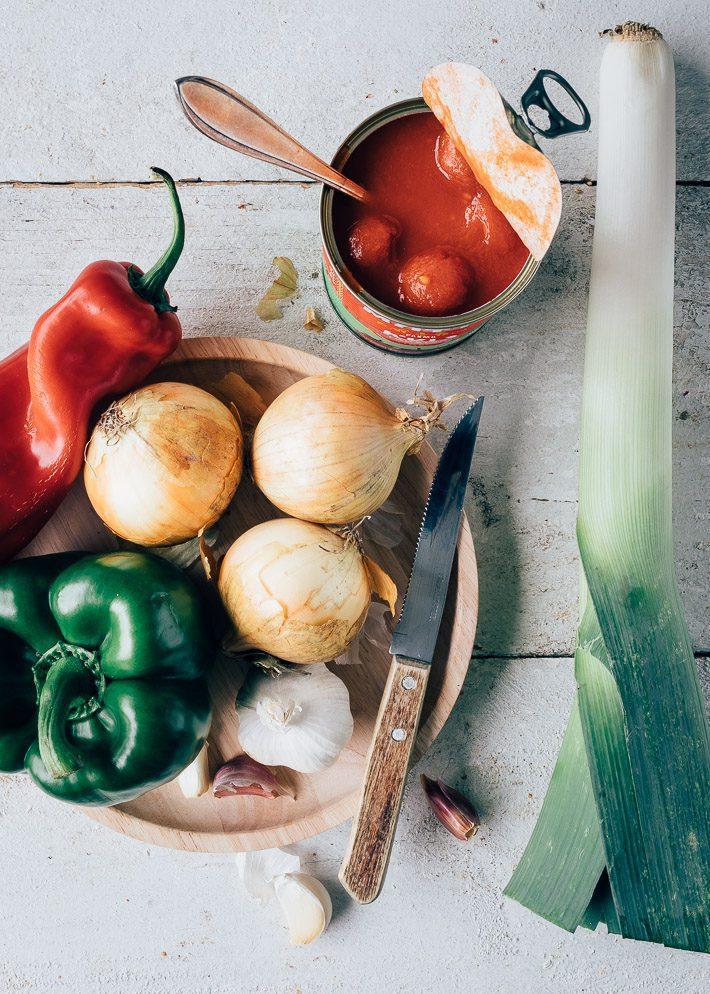 Groenteschotel met paprika