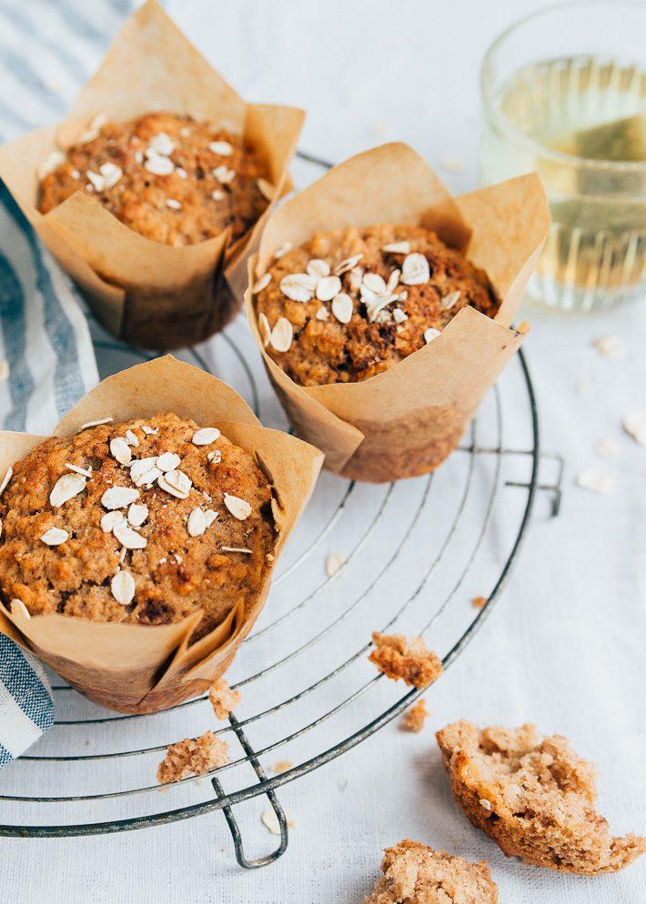 Gezonde appel-kaneelmuffins