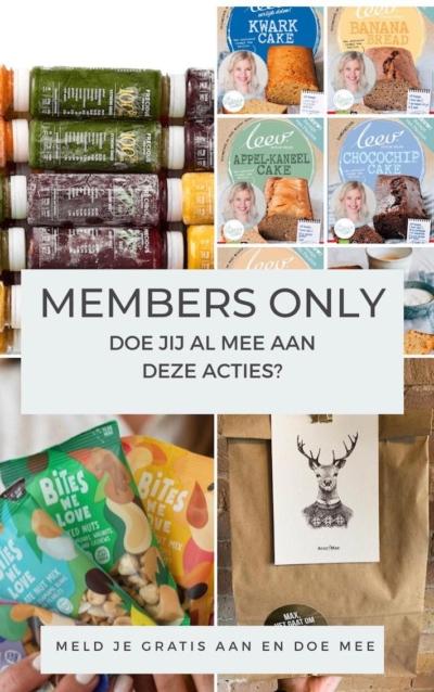 Members only: acties & exclusief recept van deze maand