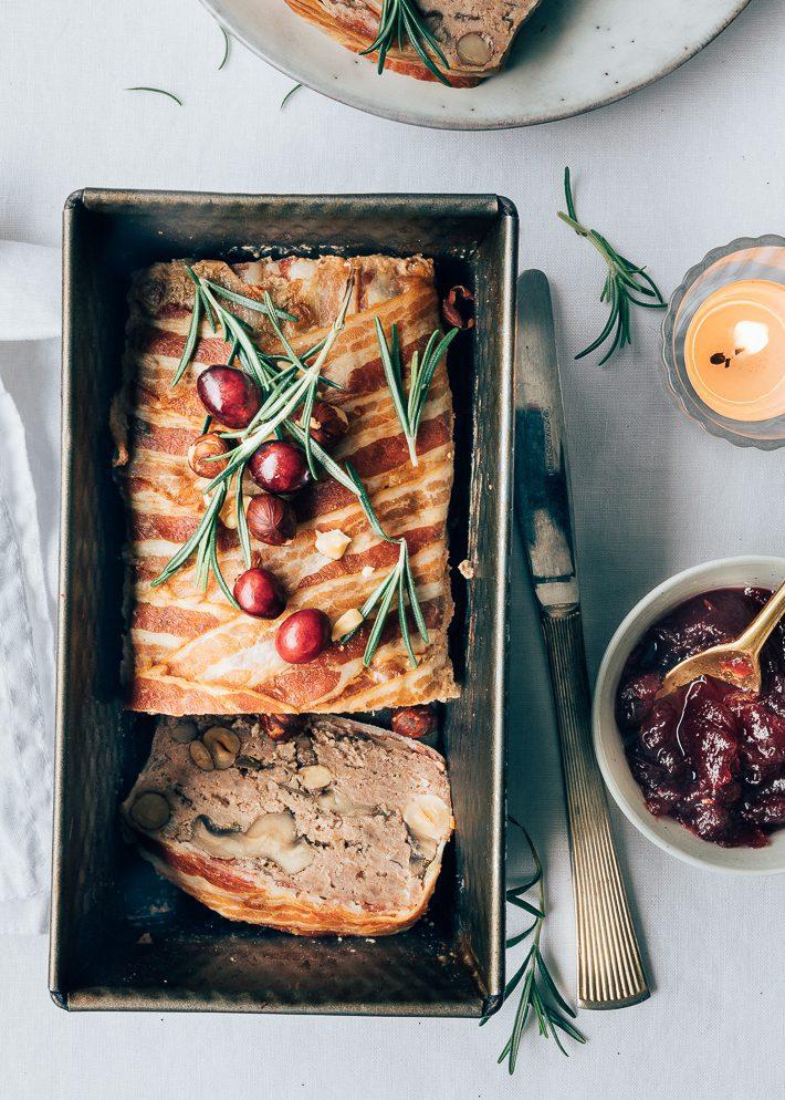 Gehaktbrood met cranberrysaus
