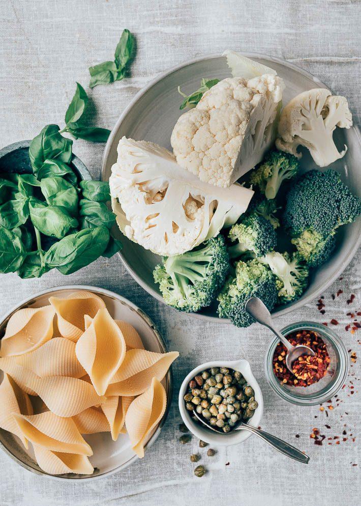 Gevulde pastaschelpen met broccoli