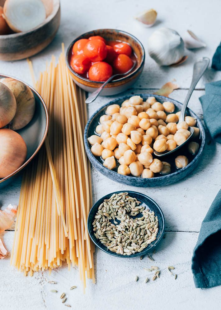 Spaghetti met pastasaus en gehakt