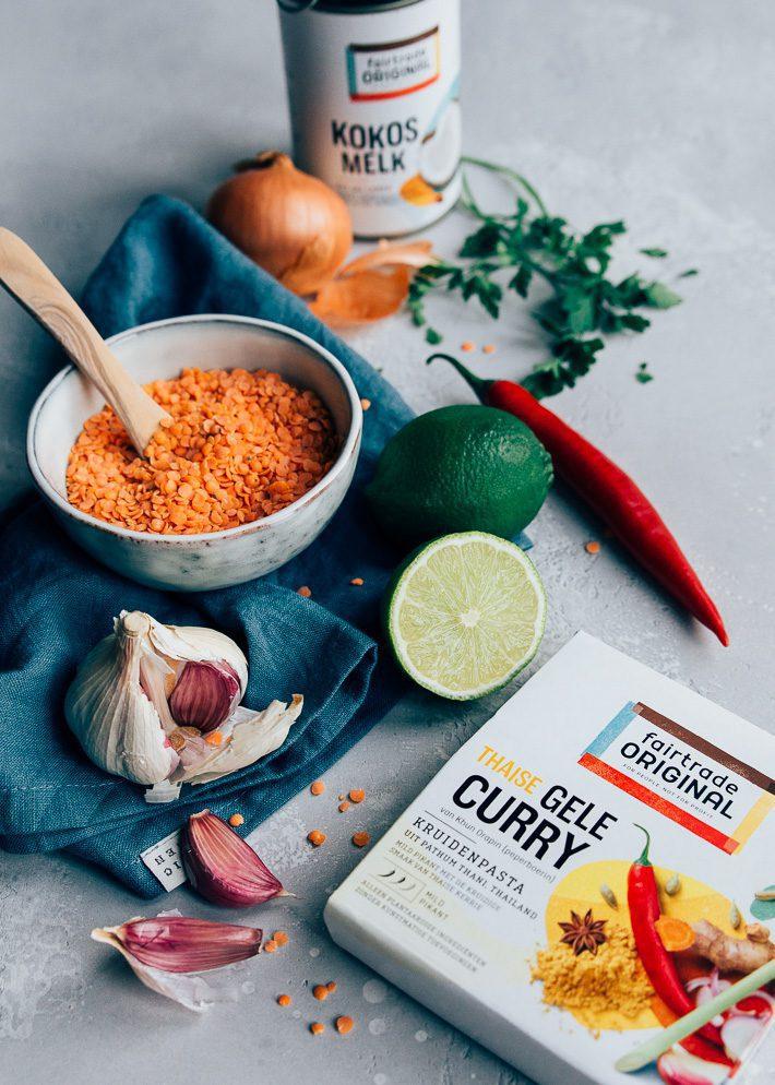 Thaise Currysoep met linzen