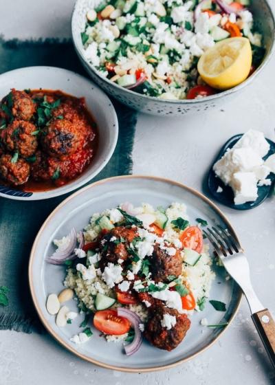 Couscous met Marokkaanse gehaktballetjes