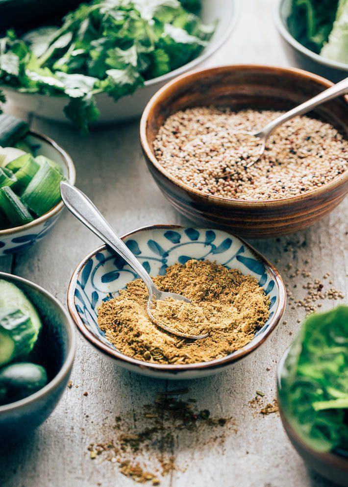 Aziatische larb salade met quinoa