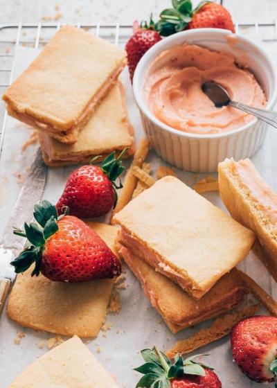 Sandwich koekjes met crème