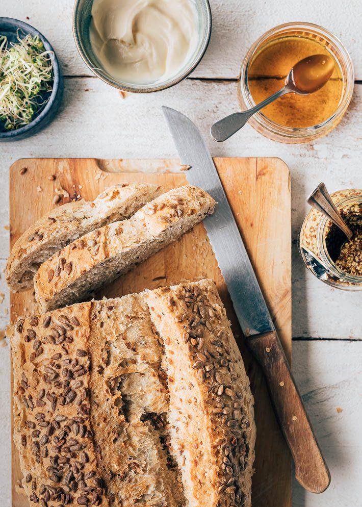 Toast met honingkip & mosterdmayo