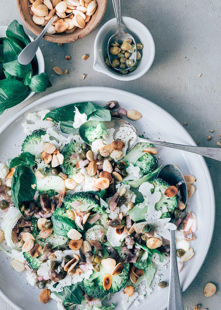 Bloemkool salade met ansjovisdressing