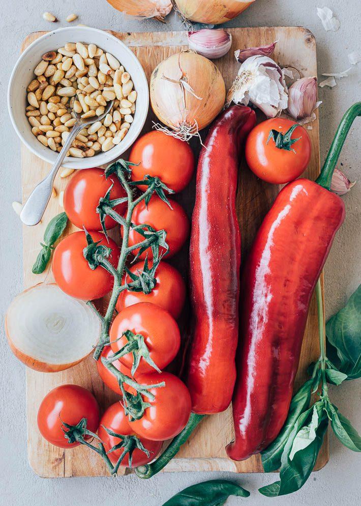 Koude soep met tomaat en paprika