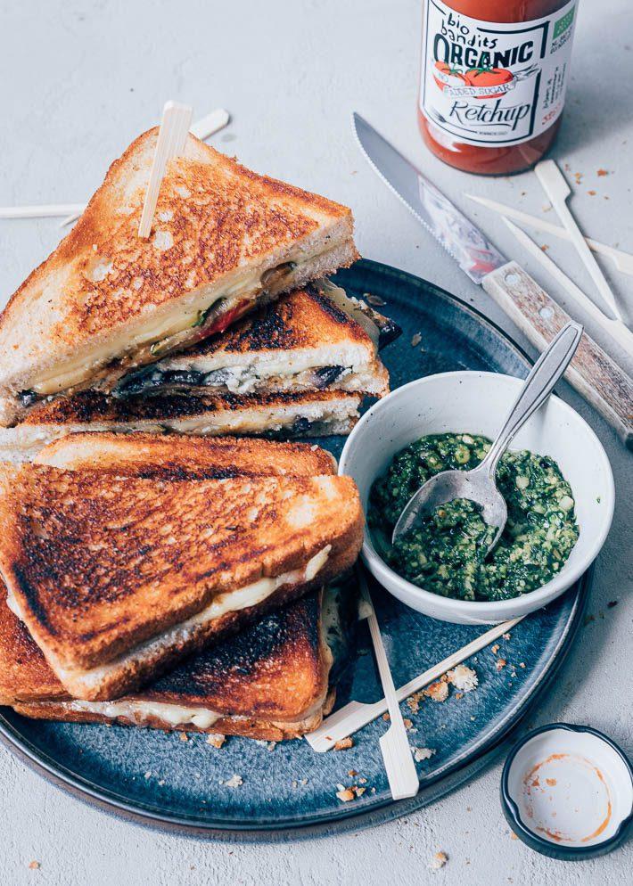 Gegrilde groenten tosti's