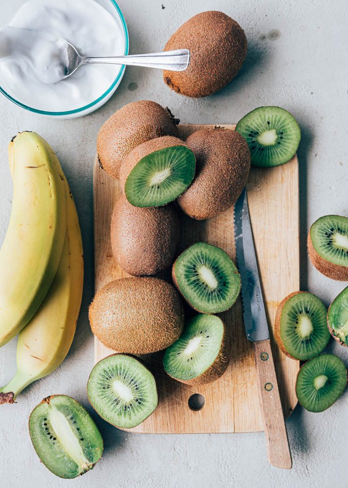 Bananen brood met kiwi