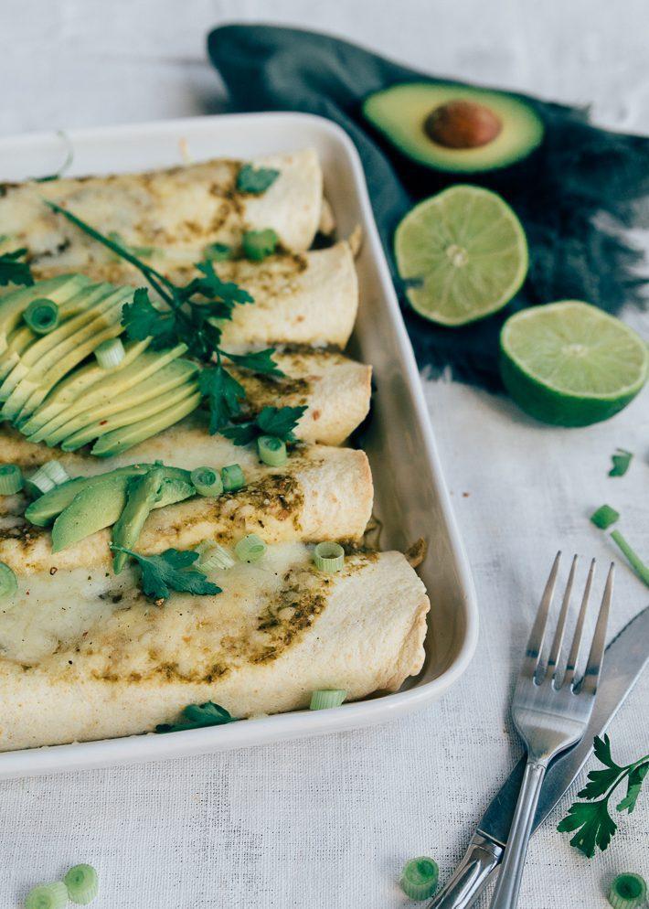 Enchilada's met groene salsa