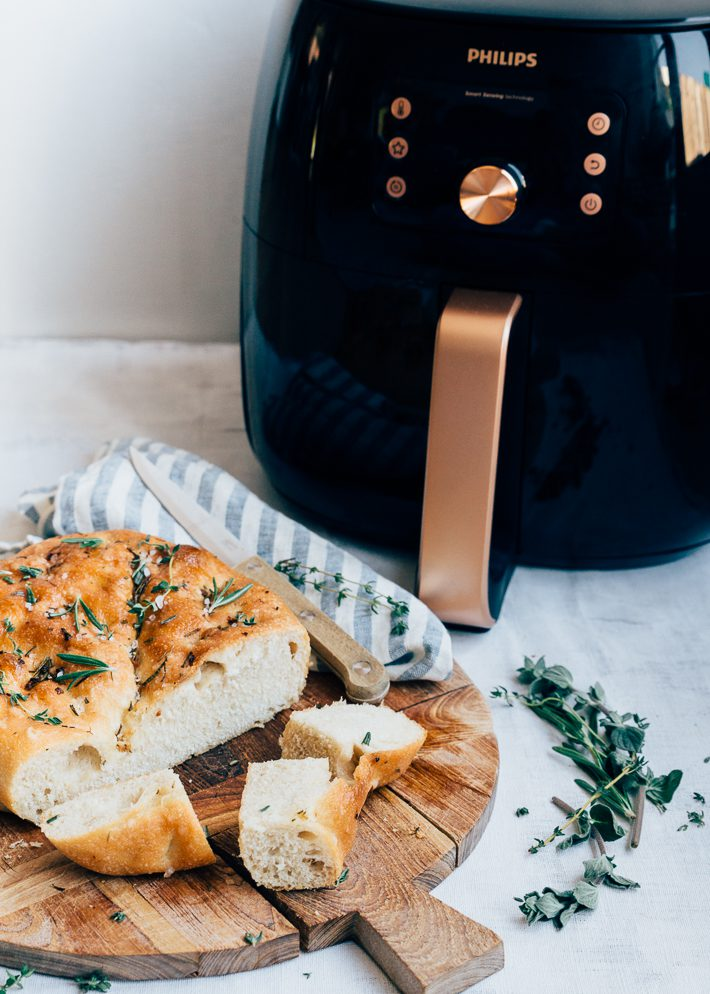 Focaccia brood uit de Airfryer