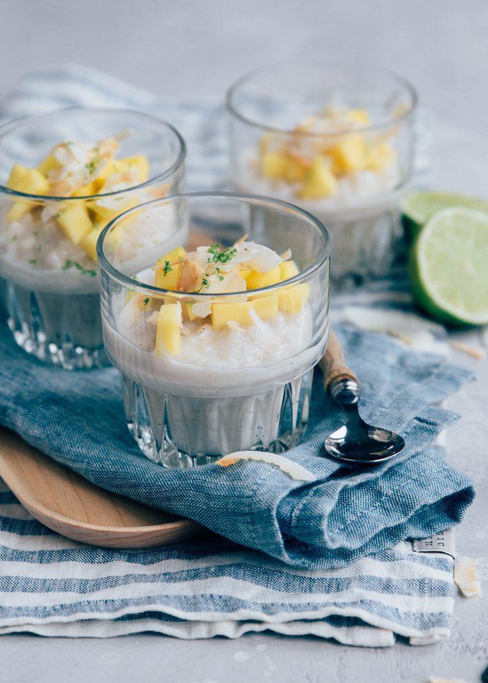 Kokos rijstpudding met mango