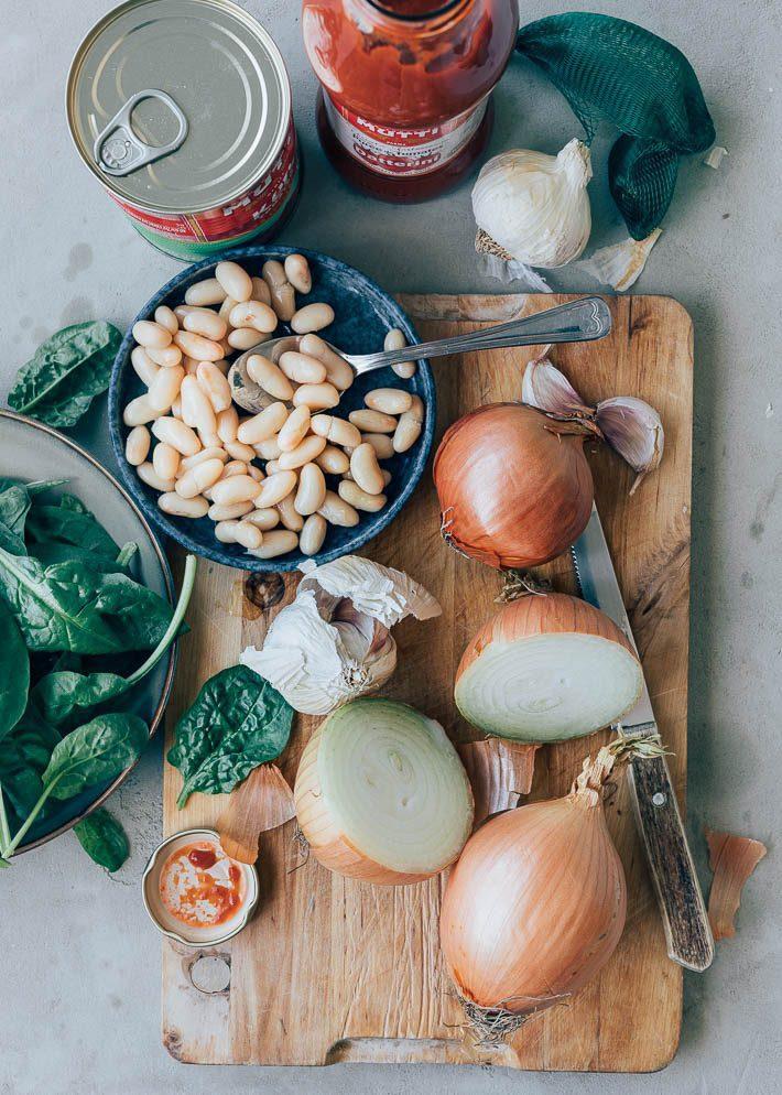 Ribollita soep met bonen en brood