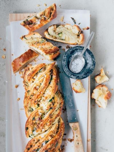 Swirl knoflookbrood