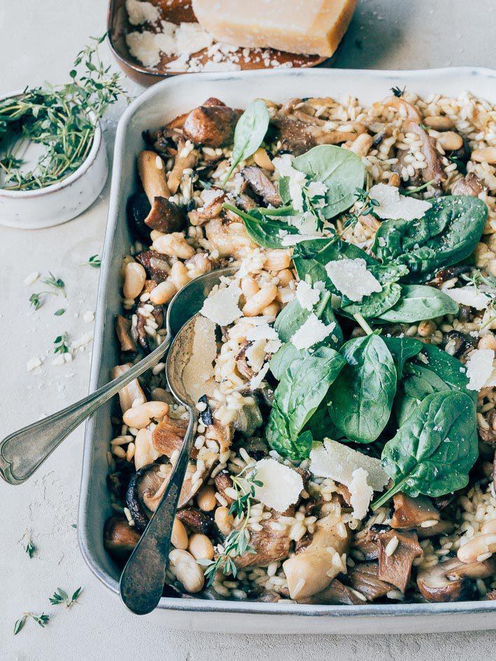 Vegetarische risotto uit de oven