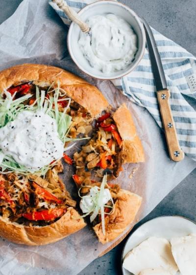 Grieks gevuld brood