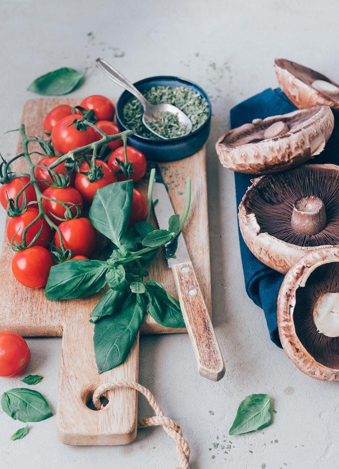 Portobello met gehakt