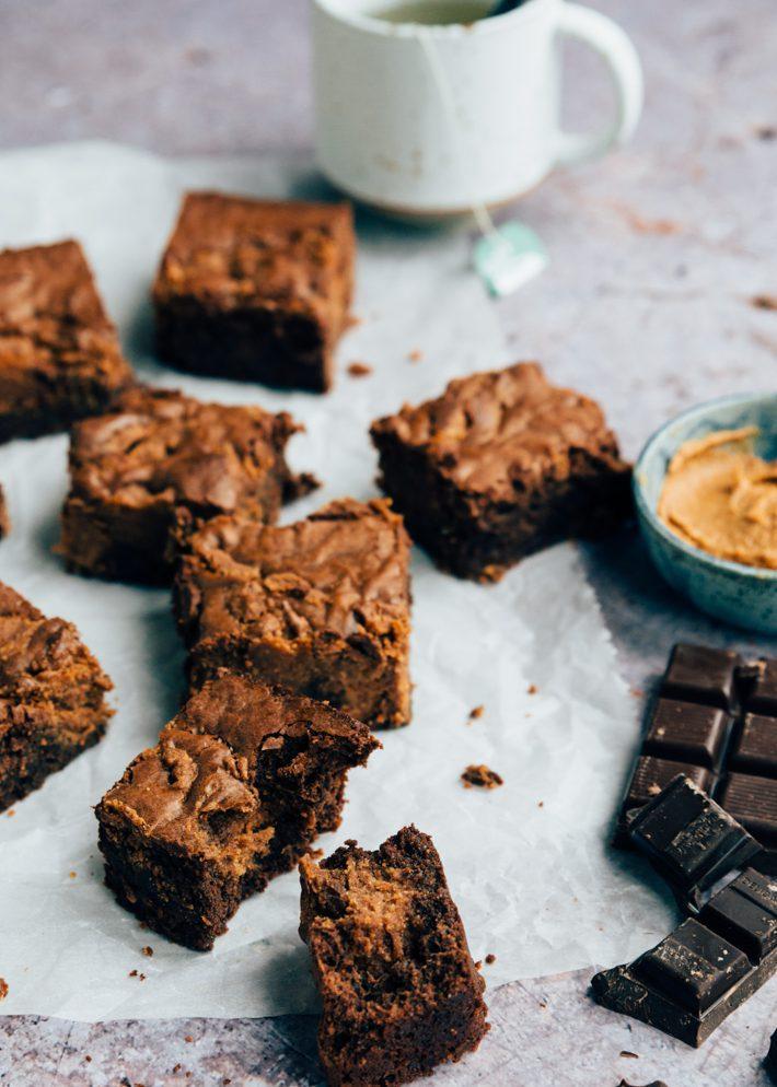 Smeuïge brownies met pindakaas van Waldo