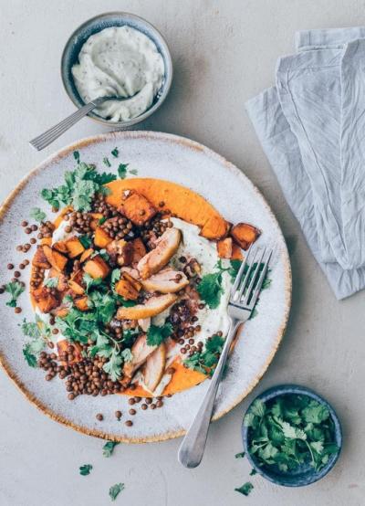 Wraps met kip en zoete aardappel