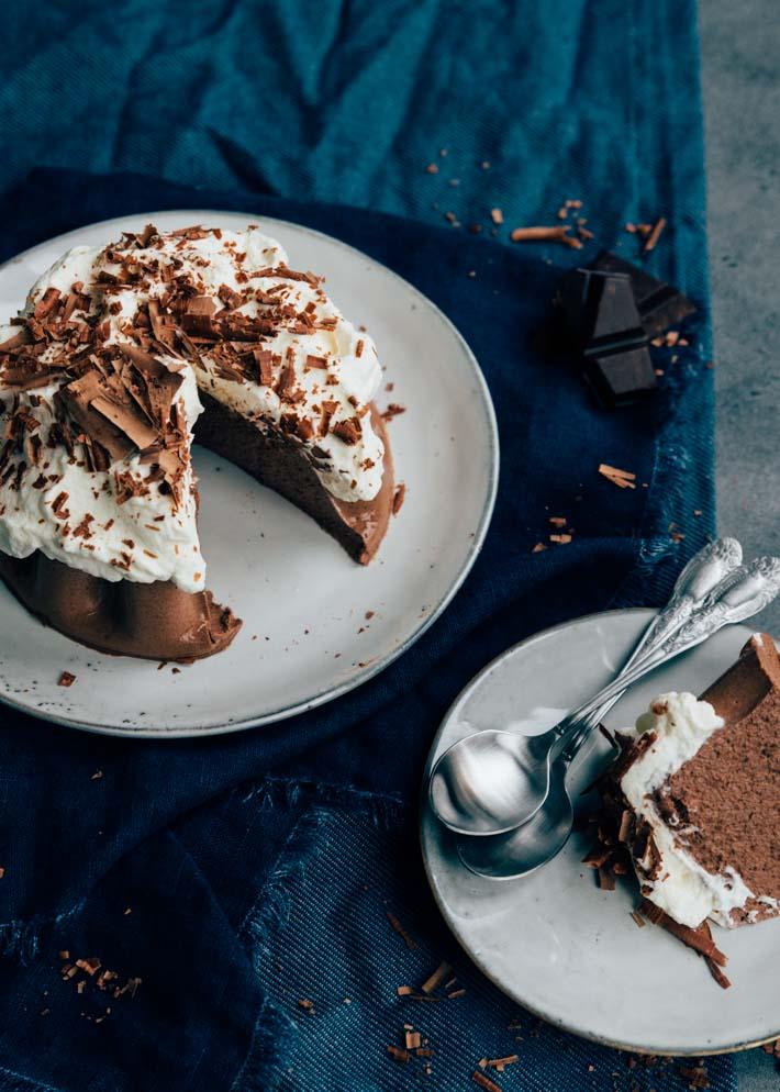 Chocoladepudding met room